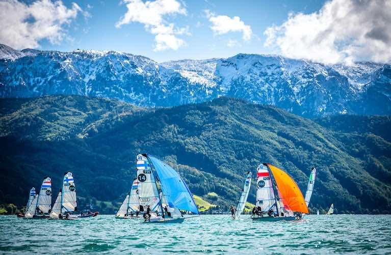 No Wind for 49er Europeans on Day Two