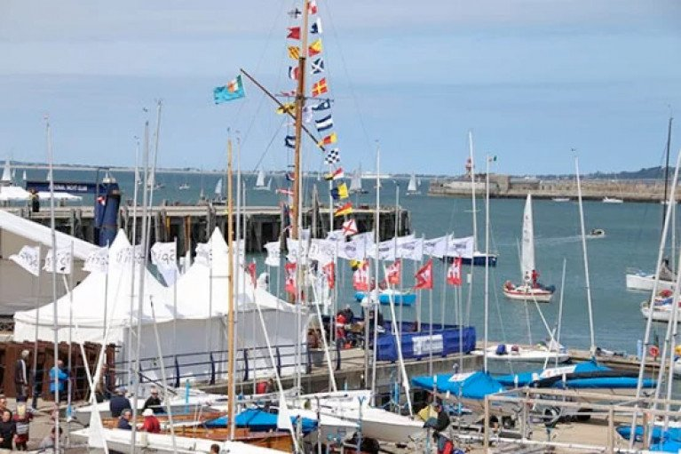 Flags at the National Yacht Club in Dun Laoghaire Harbour