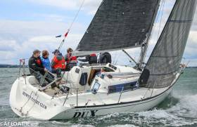 Howth Yacht Club's Dux leads 22-boat Class three of the ICRA Championships on Dublin Bay