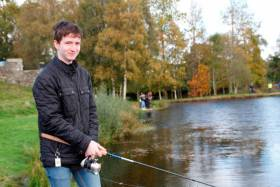 Vincent Comerford Jr (16) from St James CBS fishing in the Sean McMorrow Memorial at the Angling for All facility in Aughrim on Tuesday
