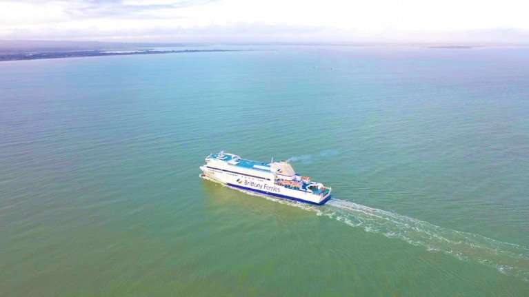 Armorique on a repositioning voyage when approaching Rosslare Europort with Wexford Bay, where the ferry this afternoon completed Brittany Ferries a new four freight route rotation on Ireland-France links.