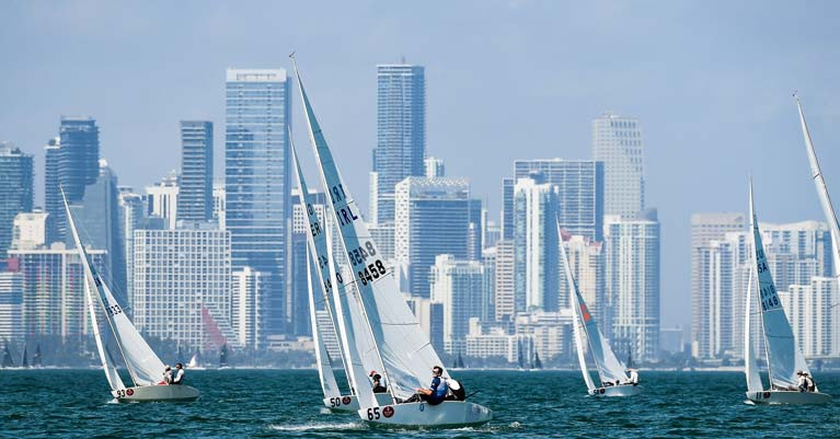 Royal Cork's Peter and Robert O'Leary on the Biscayne Bay race track