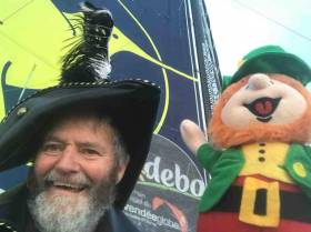 Enda O'Coineen crosses the equator in time for St. Patrick's Day