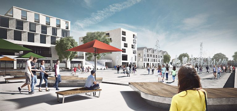 An artist's impression of the Queen's Parade regeneration at Bangor