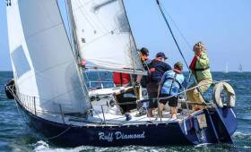 Ruffian Ruff Diamond was second in last night's DBSC race