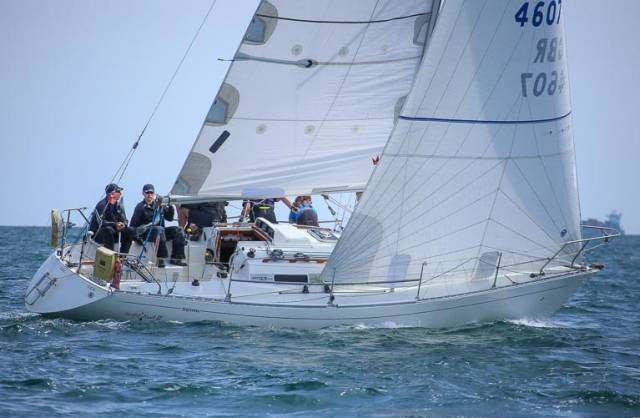 "Alan Harper  at the helm of ""Leaky Roof 2"" from Scotland will be back in action on Dublin Bay in July"