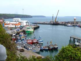 Work under way in mid-May on the piling for the new Visitors Pontoon at Dunmore East, which will have Disabled Access. The final pile is being driven today (May 30th), and the official opening is scheduled for July 1st.