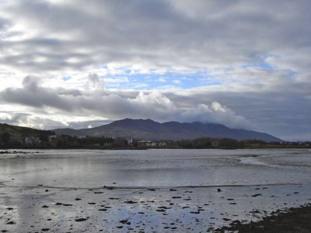 Croagh Patrick as seen from Westport Harbour