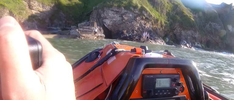 Howth RNLI rescued people stranded on rocks