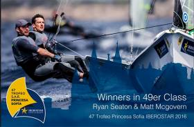 Ryan Seaton and Matt McGovern in action at the 49er Europeans this week in Barcelona
