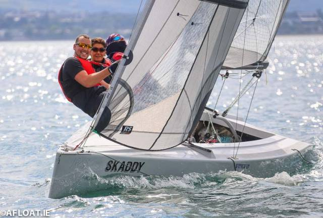 Connor McGuckin's RS Elite Skaddy flies the flag for Ballyronan Boat Club during opening day of the UK Nationals in Dun Laoghaire