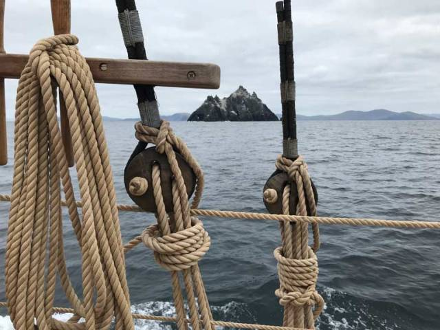 The Little Skellig as seen from Ilen eleven months ago, when she was on passage from Batimore to her home port of Limerick