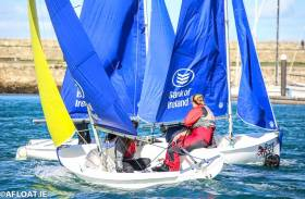 Dinghy Team Racing is thriving in the college scene with some twenty-seven teams competing regularly in their four provincial events and the Irish Universities Championships