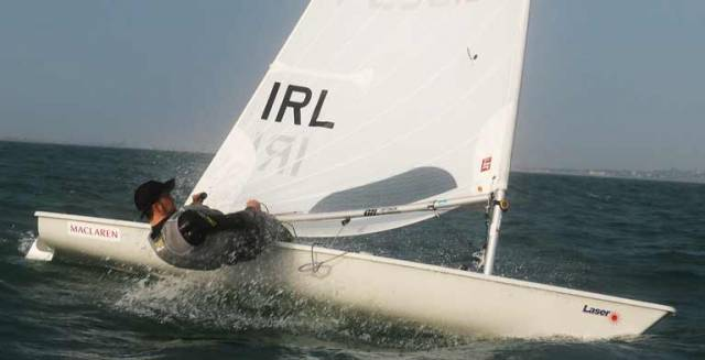 Finn Lynch in training on Dublin Bay