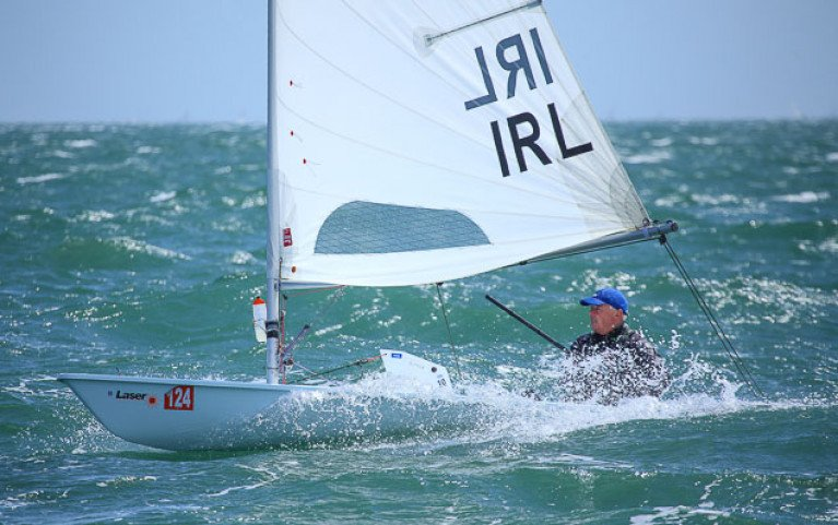 Laser dinghy on Dublin Bay