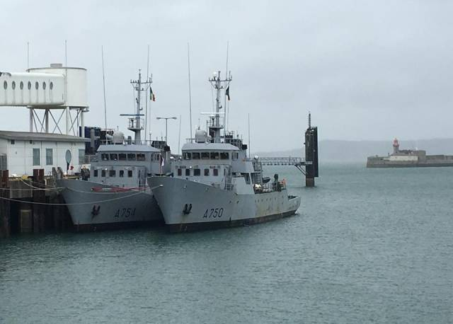 French Navy trainee vessels, Tigre and Jaguar alongside St.Micheal's Pier, Dun Laoghaire