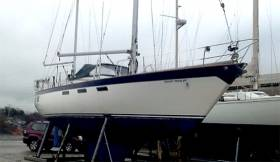 Oyster 39 ketch Shadymaid is for sale through Crosshaven Boatyard