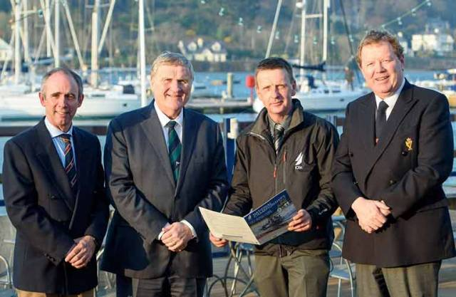 ICRA Champs launched – Event Chairman Paul Tingle, ISA President Jack Roy, ICRA Commodore Simon McGibney and Royal Cork Admiral John Roche