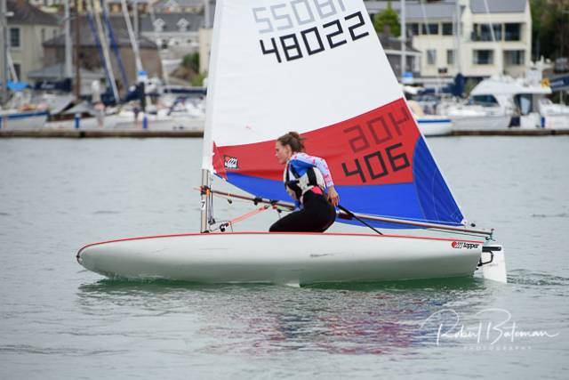 Dorothy Matthews took first place in Kinsale Regatta just before heading to Longcheer, Shenzen, China for the Topper World Championship