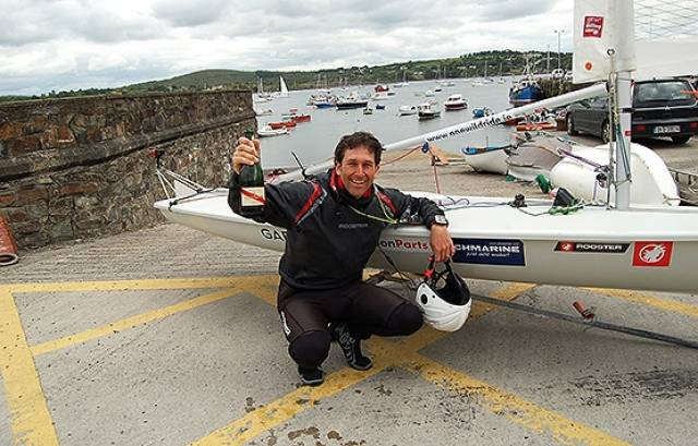 Gary Sargent back In Schull after rounding Ireland on a Laser dinghy