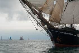 The tall ship 'Roald Amundsen' from Cologne arrived in to Cork Harbour this afternoon. Scroll down for photo gallery