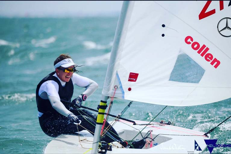 Annalise Murphy is relishing the windy conditions in Melbourne