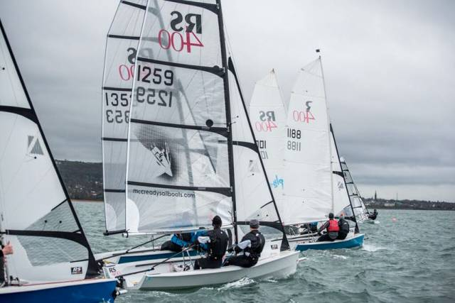 Sailing in the RNIYC's RS 400 Autumn Series