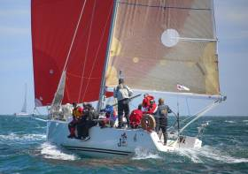 Joker II skippered by John Maybury of the Royal Irish Yacht Club