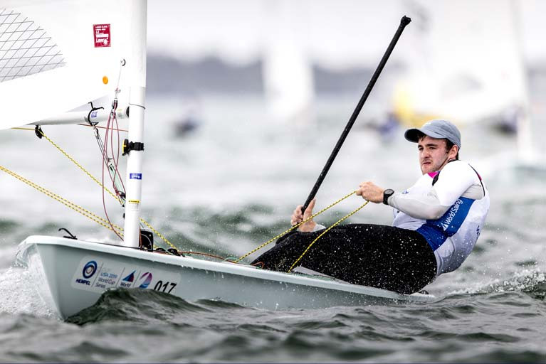 The National Yacht Club's Finn Lynch is one of three Irish sailors seeking to qualify for Tokyo in the men's Laser class