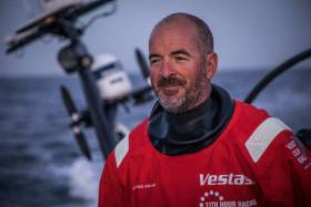 Ireland's Damian Foxall leads in the VOR