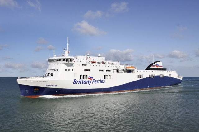 An artist's impression of Connemara, a Visentini built ropax ferry that will be chartered-in to operate the new direct Ireland-Spain route between Cork-Santander, the first ever ferry link between the countries. Operations are to start at the end of April based on schedule of two return-sailings a week