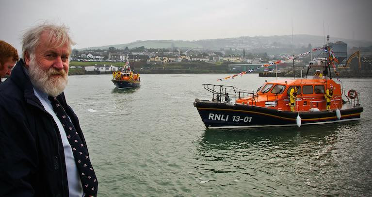 Des Davitt has retired after 27 years volunteering with the RNLI