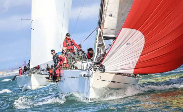 Paul Egan's Platinum Blonde, a First 35 Carbon, from the Royal St. George Yacht Club in Dun Laoghaire is one of 54 entries for this year's Volvo Round Ireland Race from Wicklow
