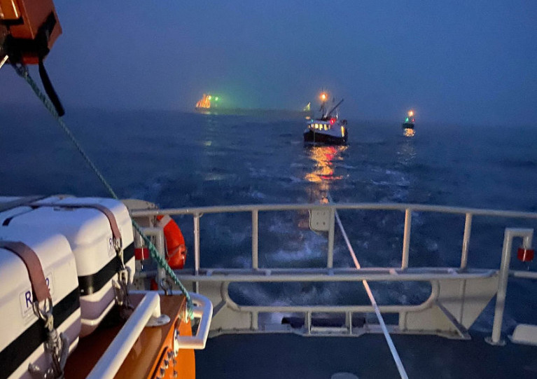 Fishing Boat Sinks After Collision with Cargo Ship Off England's North-East Coast
