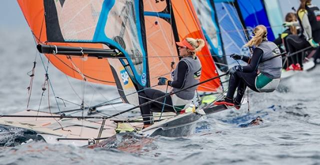Andrea Brewster and Saskia Tidey from the Royal Irish Yacht Club are competing in the 49erfx at the Sailing World Cup Hyeres