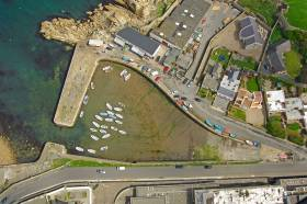 An aerial file photo of Bullock Harbour along the coast of Dalkey located on the southern shores of Dublin Bay