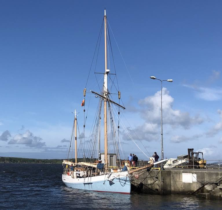Limerick Trading Ketch Ilen Proves Faster Than Expected on Cargo Cruise