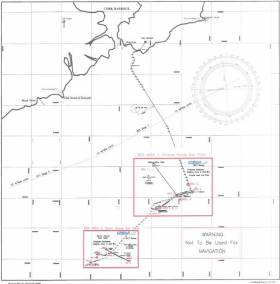 Map of the seabed survey areas south of Cork Harbour