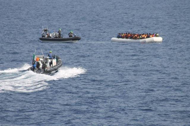 In the last two days, RIBS from LE Samuel Beckett were deployed to rescue more than 400 refugee migrants off Libya