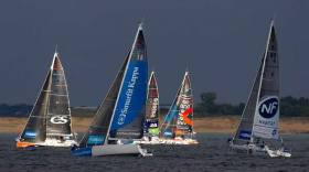 Ireland's Tom Dolan in Smurfit Kappa (15) on port tack shortly after the start