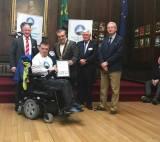 Dylan Nelson won the 2018 Sail Training Ambassador Award