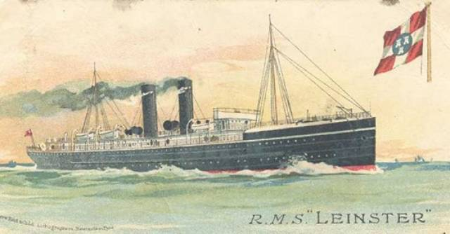The 'mail-boat' of the City of Dublin Steam Packet RMS Leinster.