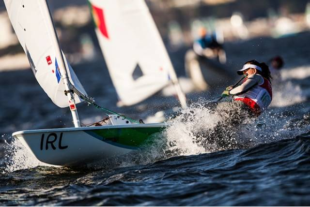 Annalise Murphy sailed superbly to score a sixth and seventh to put her just two points behind Anne Marie Rindom in the Silver medal position
