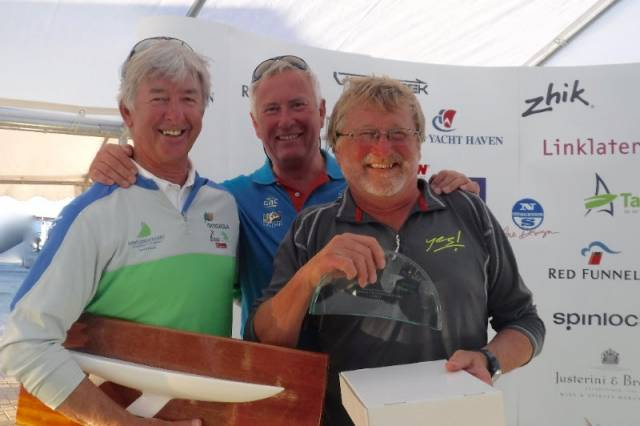 Eddie Warden Owen's RORC team of Ossie Stewart and John Greenwood, was top Corinthian Team for the Etchells Open European Championship.