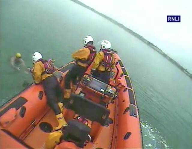 Skerries lifeboat crew rescues two swimmers from the water off Colt Island on Hallowe'en afternoon
