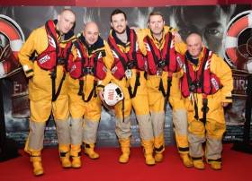 Dun Laoghaire, Howth and Skerries lifeboat crew at gala screening of The Finest Hours in Dundrum on Wednesday 17 February