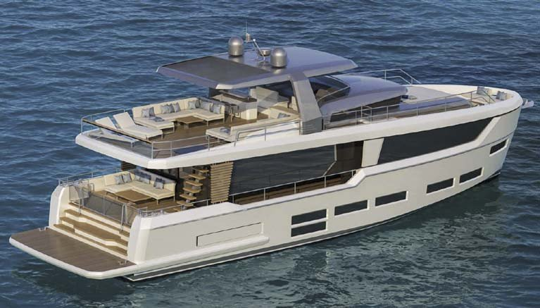 The Project E yachts are 62 to 73-feet in length and designed for long distance cruising
