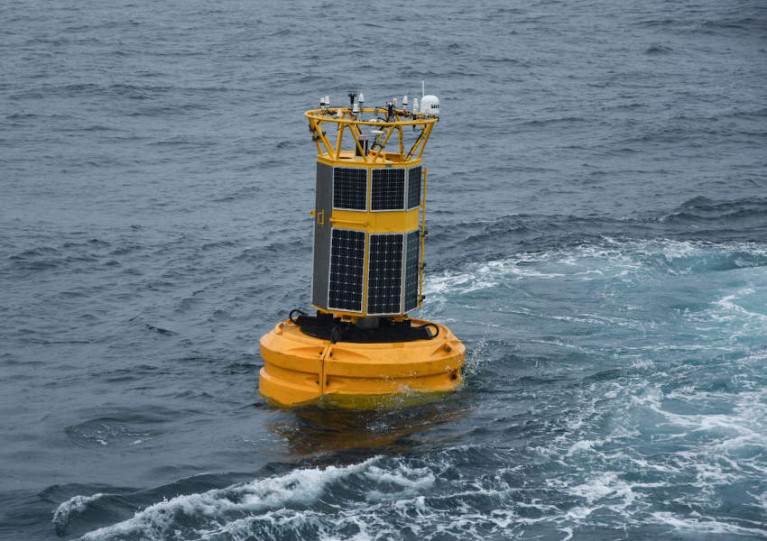 Data buoy depleted during last year's Annual Ocean Climate Survey