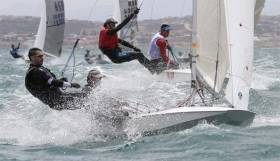 Heavy weather Freball sailing in Mossel Bay