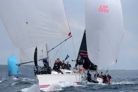 Class Two yachts competing in day one of the 2019 Sovereign's Cup yesterday. Today's racing has been cancelled due to strong winds
